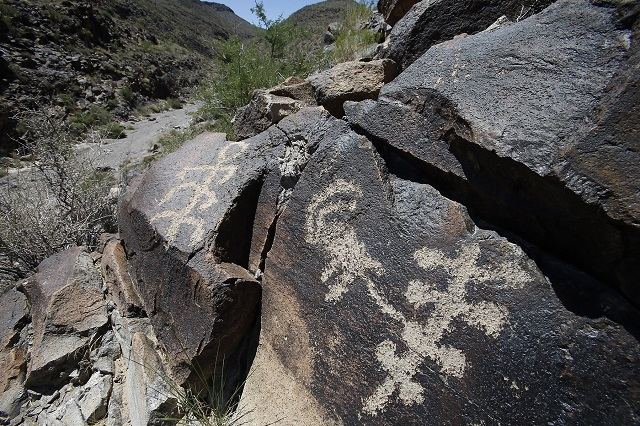 Petroglyphs at Sloan Canyon National Conservation Area. Photo by Marc Sanchez/BLM.